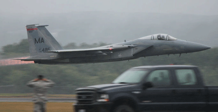 F-15 taking off